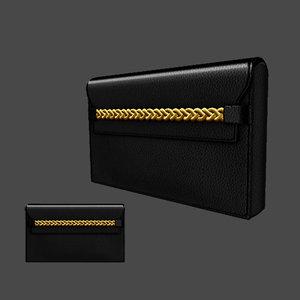 3d 3ds handbag clutch bag