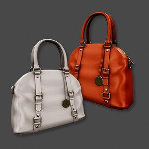 3d model handbag bag leather