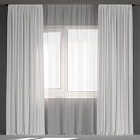 White curtains from tulle