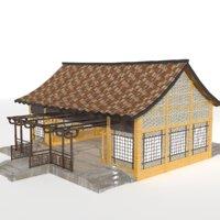 3D model village school