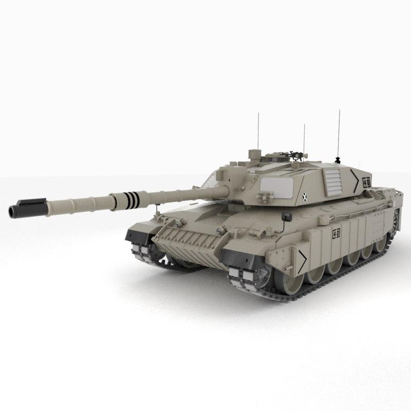 3D model challenger tank