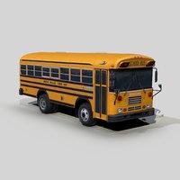 blue bird tc2000 4wd 3D model