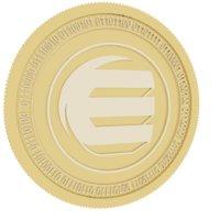3D enjin coin gold