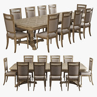 realistic dining set 3D