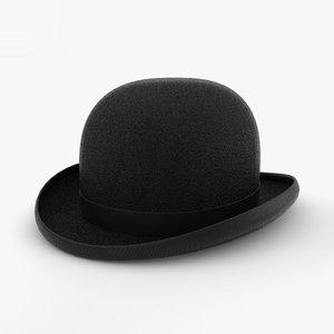 3D bowler hat model