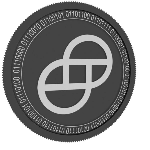 3D gemini dollar coin model