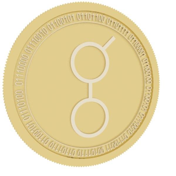 3D golem gold coin