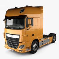 3D model daf xf tractor