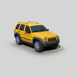 3D model jeep liberty suv