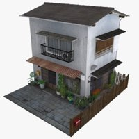 old tokyo townhouse 3D