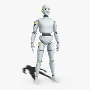 3D ready robotic test dummy model