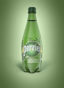 3D bottle perrier 50cl