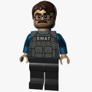 3d model james gordon swat suit