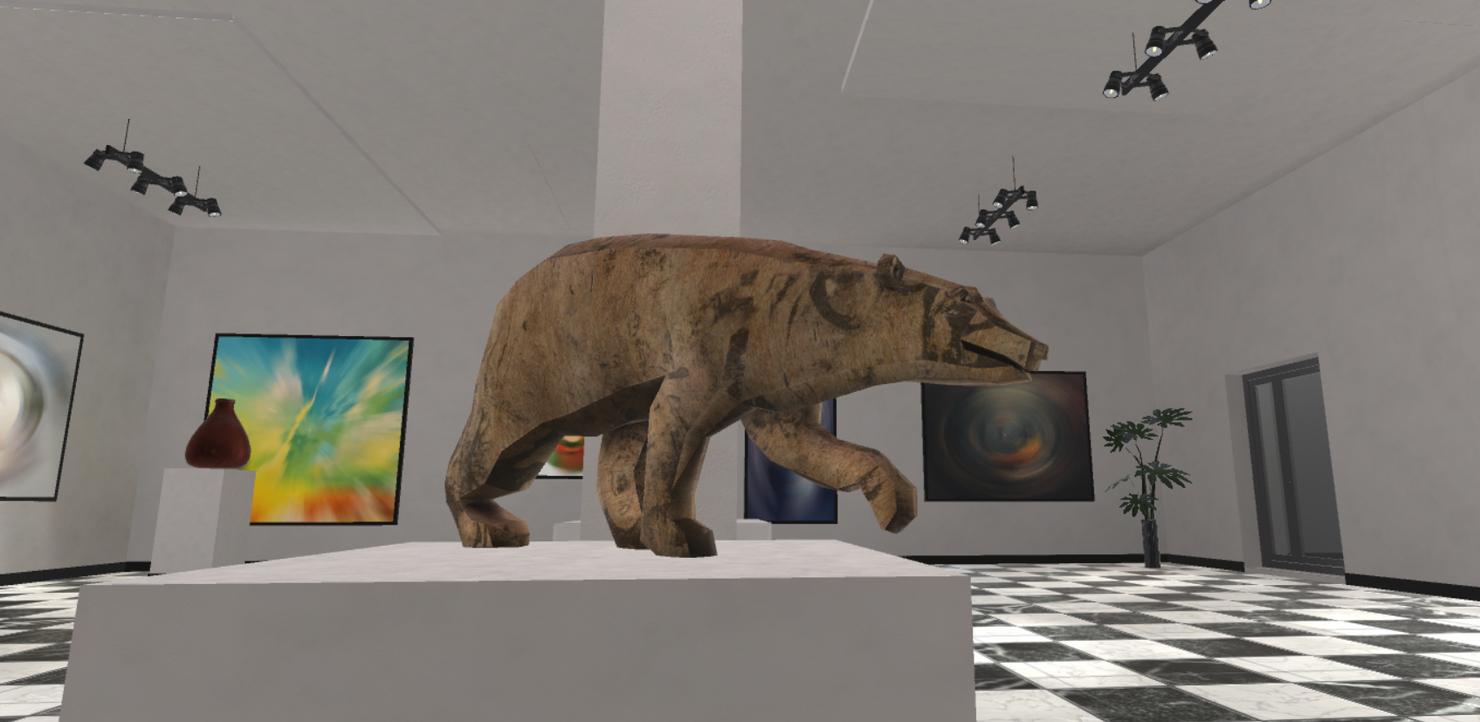 3D gallery interior modular - model