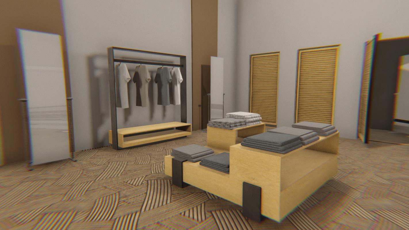 vr showroom - clothing 3D model
