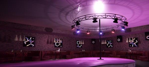 vr nightclub - interior 3D model