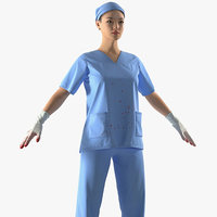 asian female surgeon stained model