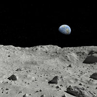 Detailed Moon Surface Scene