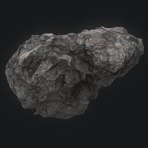3D meteor asteroid rock 4k
