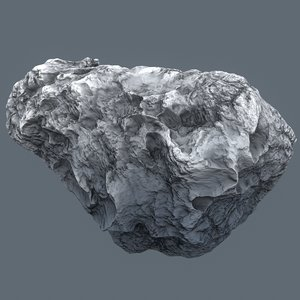 asteroid meteor rock 3D model