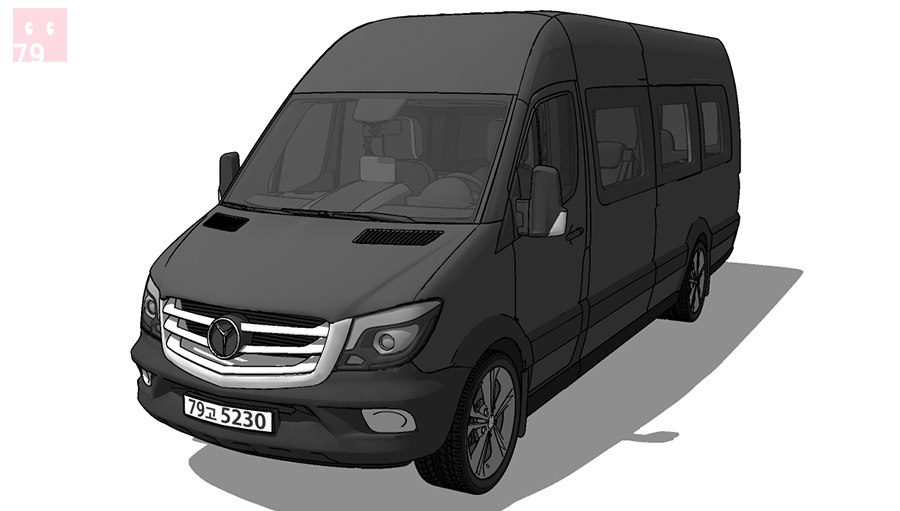 Benz sprinter Airstream modelo 3d