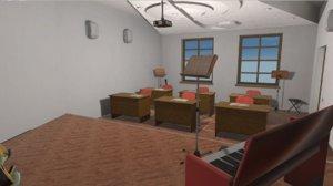 music room - environment 3D model