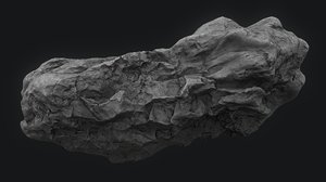 meteor asteroid rock 4k 3D model