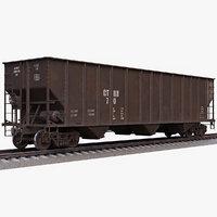 3D h351 open hopper rail model