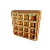 realistic waffle 3D model