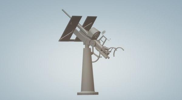 3D model freestanding 20mm gun