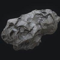 3D meteor asteroid rock 4k model
