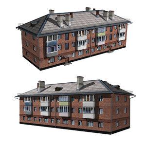 3D architecture house structure model