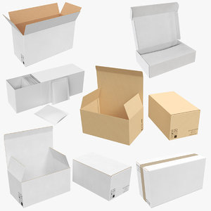 cardboard boxes 01 3D