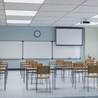 School Classroom Interior 3D Model
