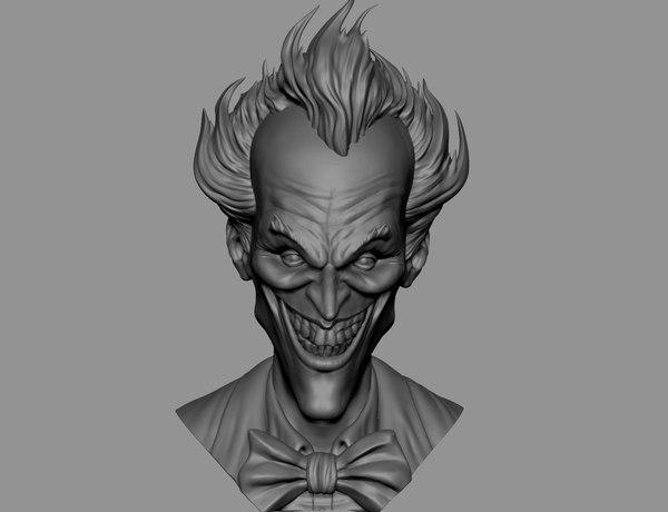 3D joker head
