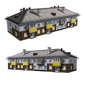 3D shop building model