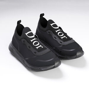 dior b21 black shoes 3D model