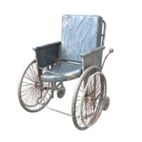 old wheelchair 3D model