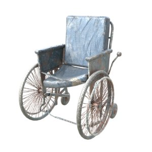 old wheelchair 3D model