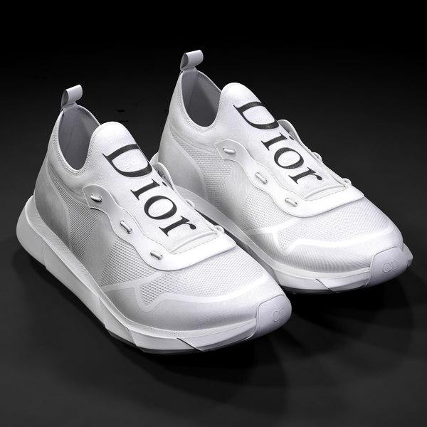 Dior b21 white shoes 3D model
