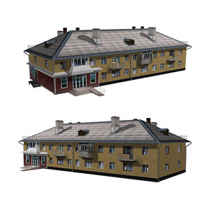 3D shop building