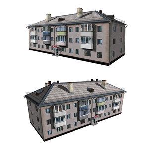 3D architecture house structure