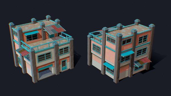 house color b blue 3D