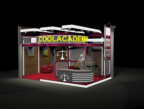 3D 4x6 exhibition booth