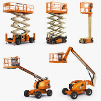 jlg scissor lifts telescopic 3D model