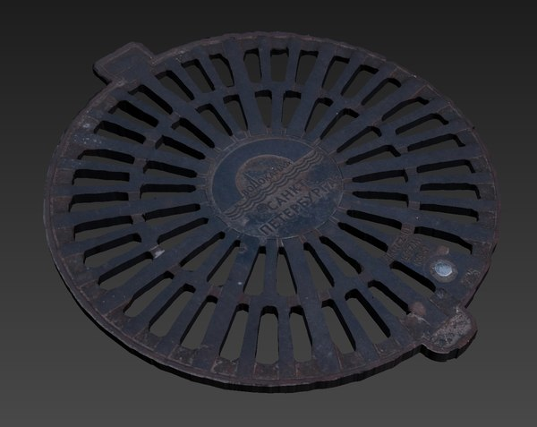 3D model hatch trapdoor cover manhole