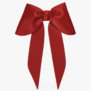 3D model red bow