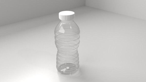 plastic bottle 6 3D model