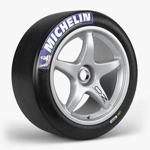 3D model michelin slick oz wheel