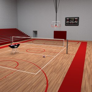 gym volleyball basketball 3D model